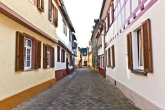 Medieval street with  half-timbered houses Royalty Free Stock Image