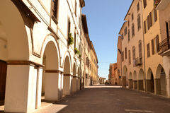 Medieval street in Italy Stock Images