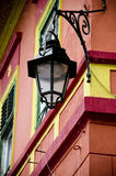 Medieval street lamp from Sighisoara city Stock Photo