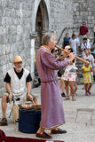 Medieval street music Stock Photo