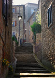 Medieval Street Of Borgo Sul Trasimeno, Umbria, It Royalty Free Stock Photo