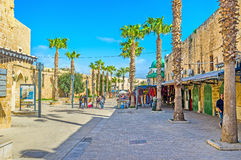 The medieval street of old Akko Stock Photography