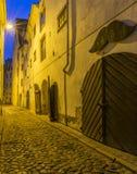 Medieval street in old Riga city, Latvia Royalty Free Stock Image