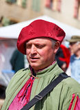 Medieval Street Performer Royalty Free Stock Photography