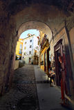 Medieval street, Portugal Royalty Free Stock Photos