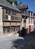 The medieval street of Rue de Jerzual in Dinan, Brittany, France Royalty Free Stock Images