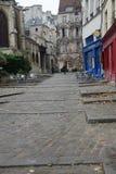 Medieval street Rue des Barres , Paris Stock Images