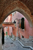 Medieval. Street in old city Sibiu, Romania Royalty Free Stock Photo