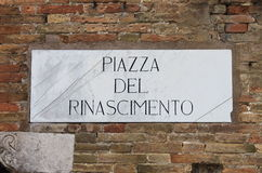 Medieval street sign in Urbino Royalty Free Stock Photography