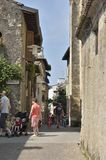 Medieval Street in Sirmione Stock Images