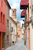 Medieval street, Spain Stock Images