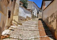 Medieval Street in Spain stock images