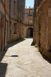 Medieval street in Vallfogona de Ripolles Stock Images
