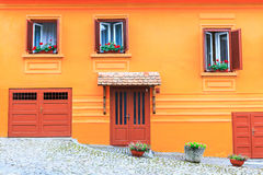 Medieval street view in Sighisoara Royalty Free Stock Photography