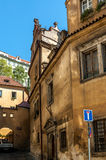 Medieval streets and architecture in Prague Royalty Free Stock Photography