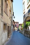 Medieval streets in Asolo, Italy Royalty Free Stock Image