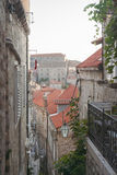 Medieval streets in Dubrovnik. Medieval streets in the Dubrovnik's City Royalty Free Stock Images