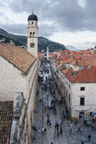 Medieval streets in Dubrovnik. Medieval streets in the Dubrovnik's City Royalty Free Stock Photos