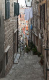 Medieval streets in Dubrovnik. Medieval streets in the Dubrovnik's City Royalty Free Stock Photography