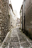 Through the medieval streets of erice Royalty Free Stock Photo