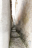 Through the medieval streets of erice Stock Image