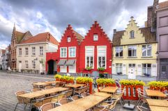 Medieval streets of old Bruges, Belgium royalty free stock images