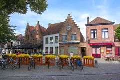 Medieval streets of old Bruges, Belgium royalty free stock photos