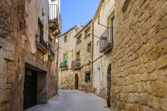 Medieval streets in Sant Joan de Horta, Spain Stock Photo