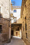 Medieval streets in Sant Joan de Horta, Spain Royalty Free Stock Photos