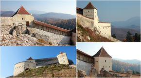 Medieval Stronghold Collage. Four pictures in a collage representing a medieval stronghold Stock Photography
