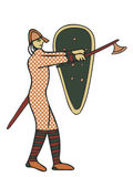 Medieval Style Artwork of Norman soldier. Circa 11th Century Styles of image Stock Image