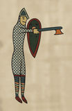Medieval Style Artwork of Norman soldier. Stock Photography