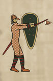 Medieval Style Artwork of Norman soldier. Stock Photos