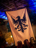 Medieval Style Bird Banner. Historical Flag Stock Images