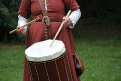 Medieval Style Drum. Royalty Free Stock Photos
