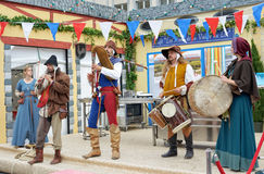 Medieval style French musical group Stock Photography