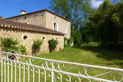 Medieval style French stone house Royalty Free Stock Image