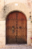 Medieval style front door Royalty Free Stock Photos