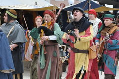 Medieval-style music band Royalty Free Stock Image