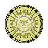 Medieval sun Royalty Free Stock Photos