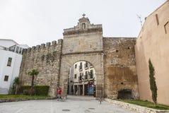 Medieval Sun Door, Puerta de Sol, Caceres, Extremadura, Spain, E Royalty Free Stock Photo