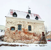 Medieval Swedish Burgher`s house in Vyborg, Russia Royalty Free Stock Photo