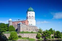Medieval Swedish castle in Vyborg Stock Image