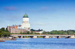 Medieval Swedish castle in Vyborg Royalty Free Stock Photos