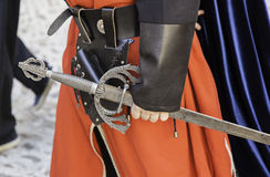 Medieval sword of a gentleman Stock Photo