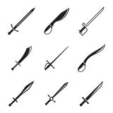 Medieval sword set Stock Photography