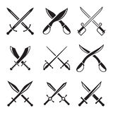 Medieval sword set Stock Images