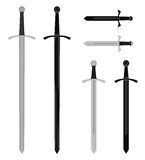 Medieval sword set Royalty Free Stock Image