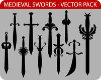 Medieval swords Stock Image