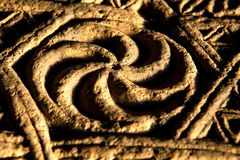 Ancient symbol of Eternity. Solar royalty free stock photography